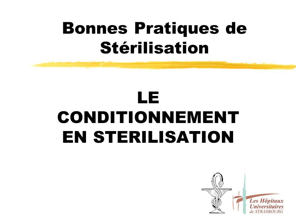 Bonnes Pratiques de Stérilisation