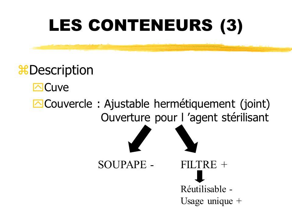 LES CONTENEURS (3) Description Cuve