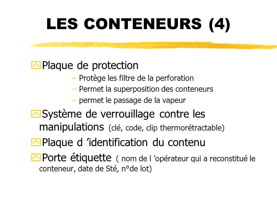 LES CONTENEURS (4) Plaque de protection