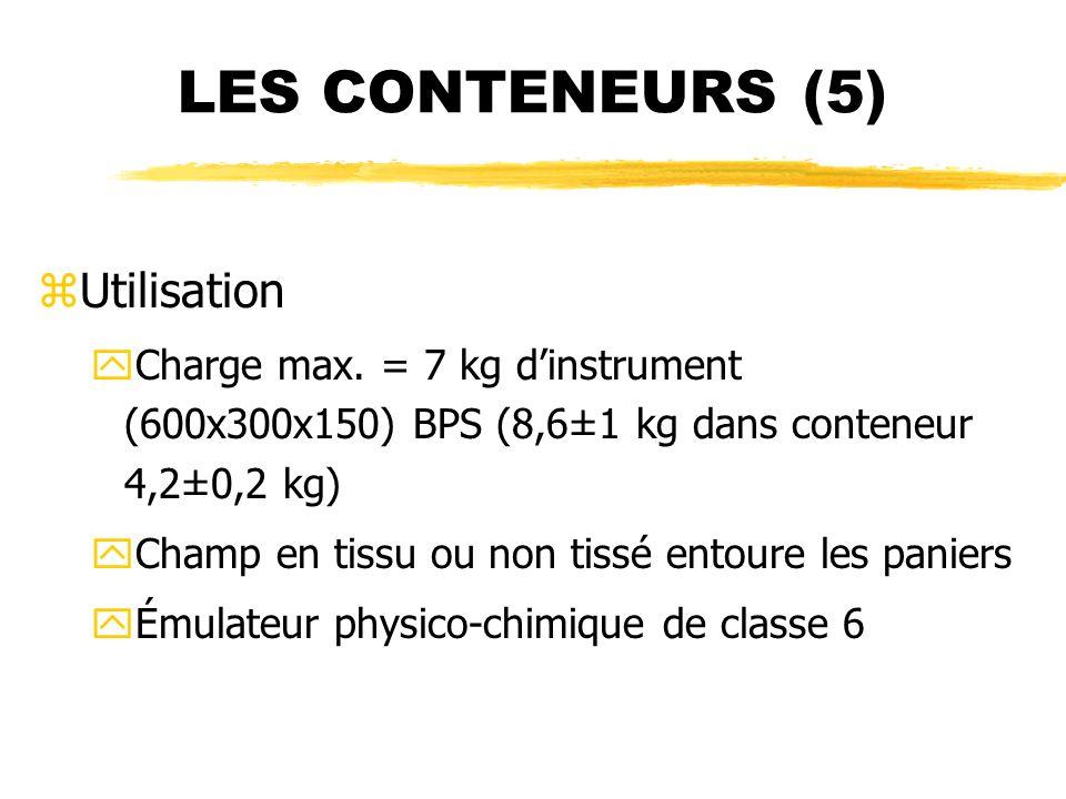 LES CONTENEURS (5) Utilisation