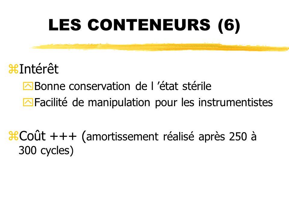 LES CONTENEURS (6) Intérêt