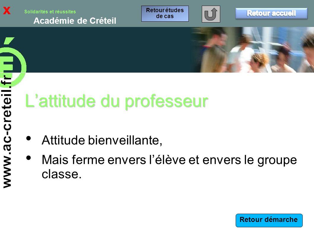 L'attitude du professeur