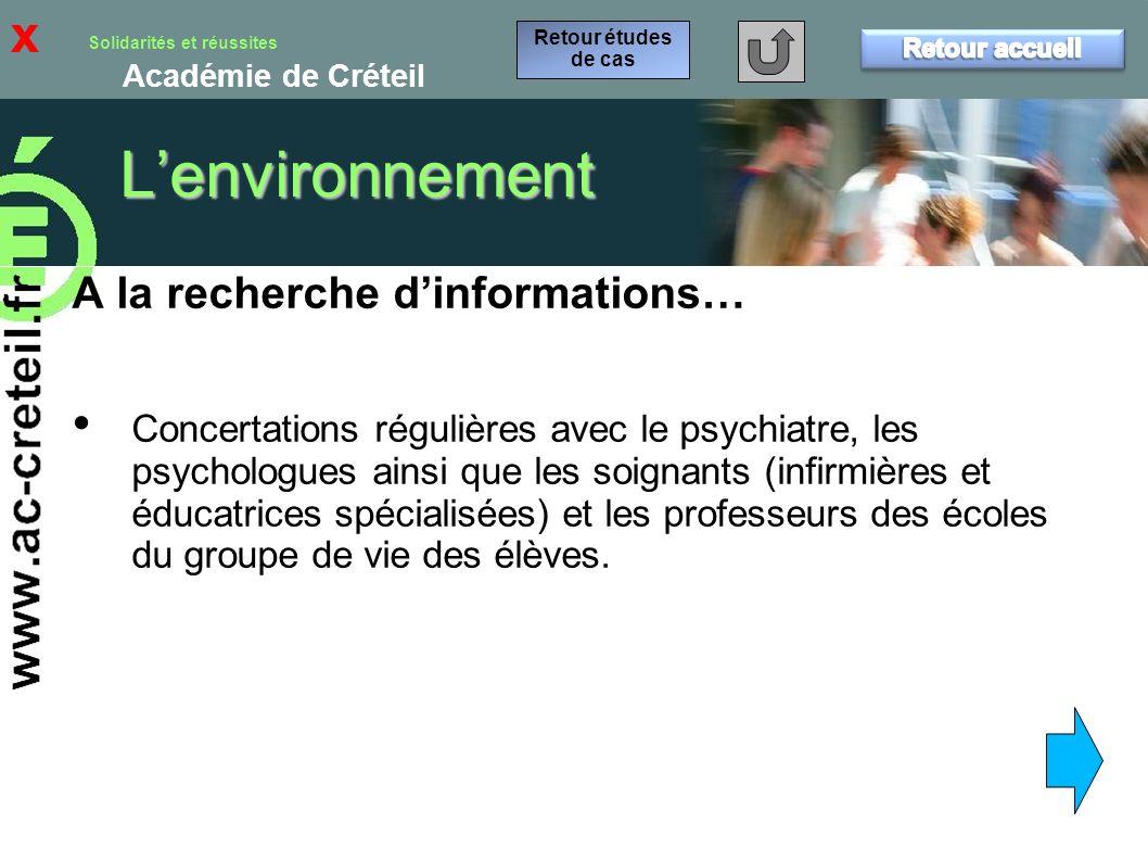 L'environnement x A la recherche d'informations…