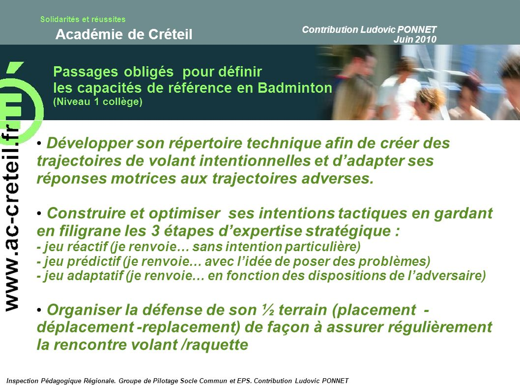 Contribution Ludovic PONNET