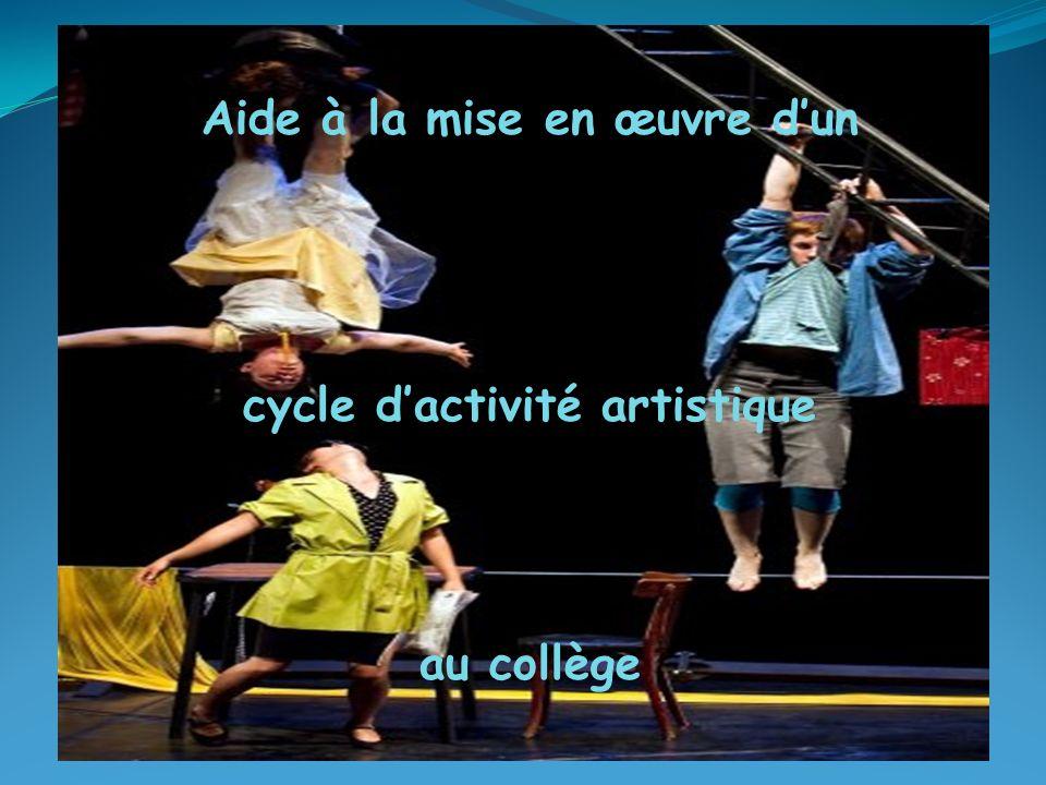 Aide à la mise en œuvre d'un cycle d'activité artistique au collège