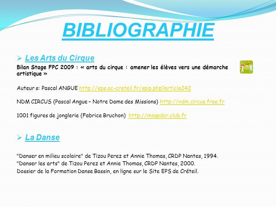 BIBLIOGRAPHIE Les Arts du Cirque La Danse