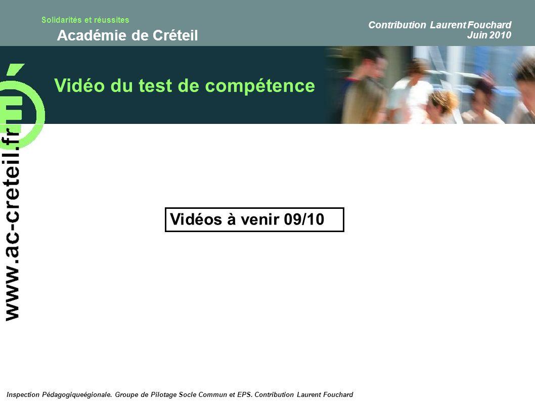 Vidéo du test de compétence