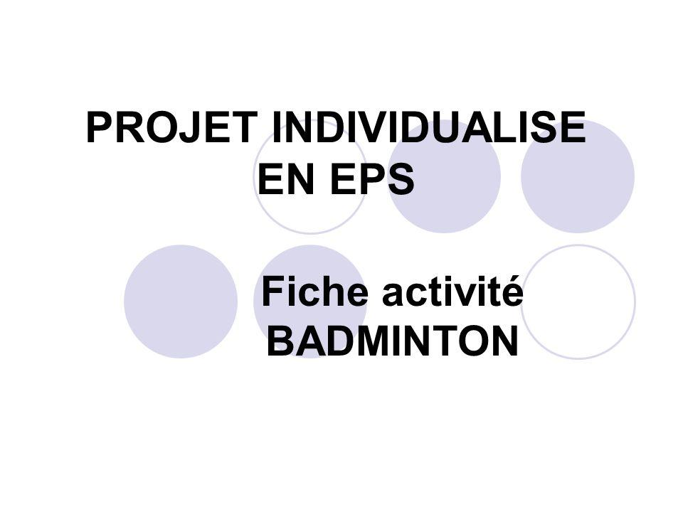 PROJET INDIVIDUALISE EN EPS