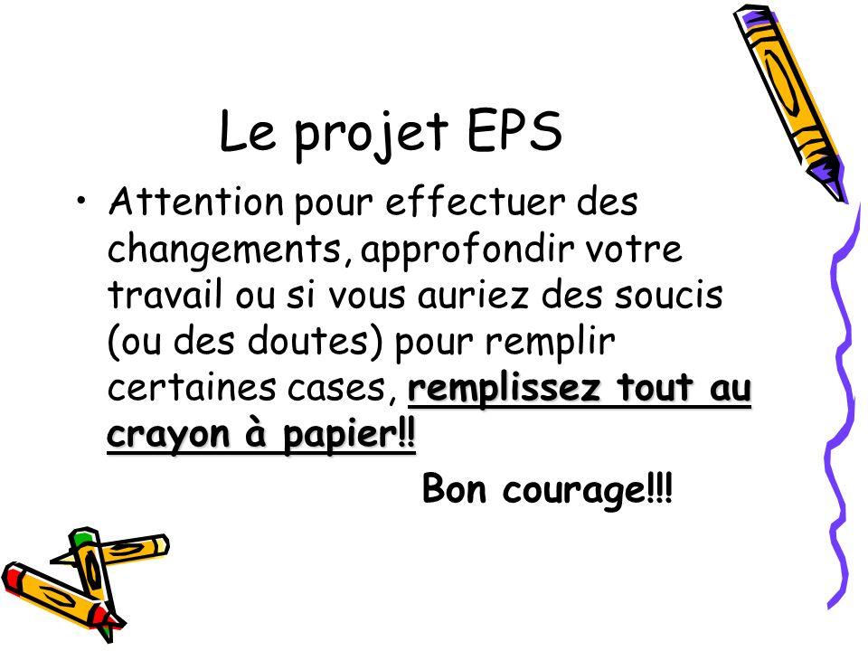 Le projet EPS