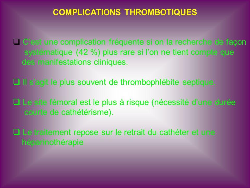 COMPLICATIONS THROMBOTIQUES