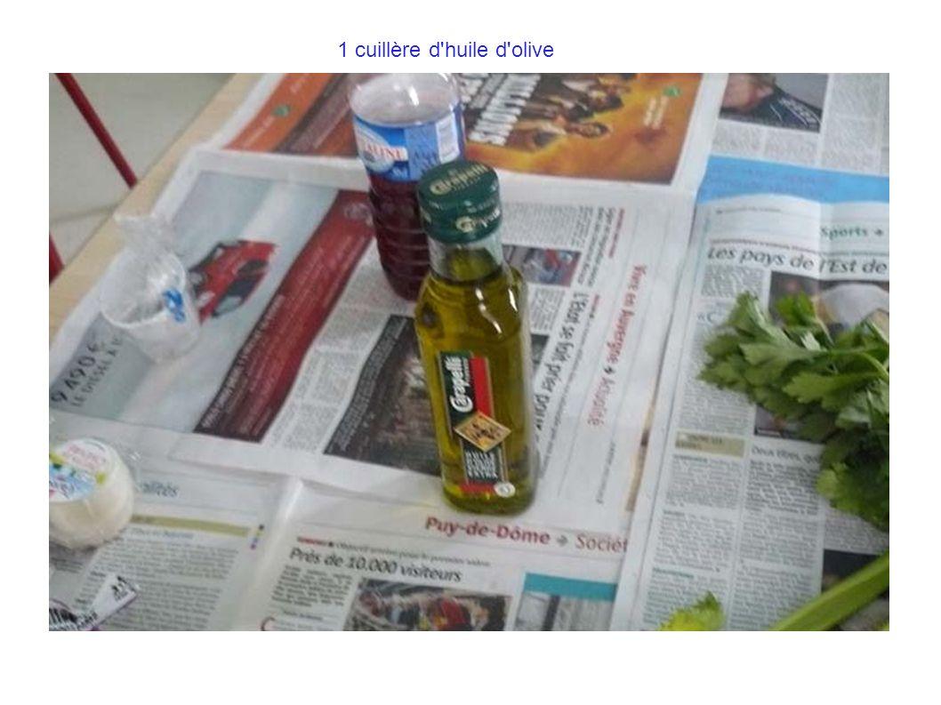 1 cuillère d huile d olive