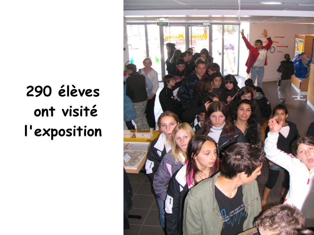 290 élèves ont visité l exposition