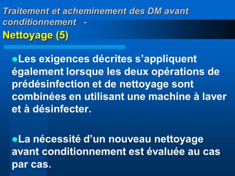 Traitement et acheminement des DM avant conditionnement - Nettoyage (5)