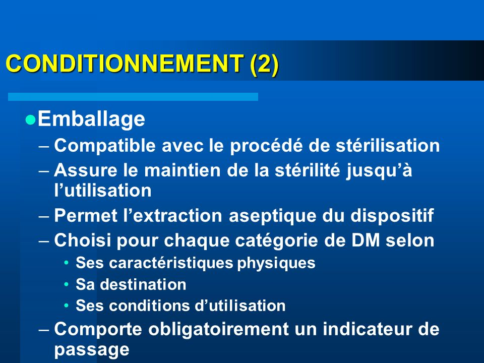 CONDITIONNEMENT (2) Emballage