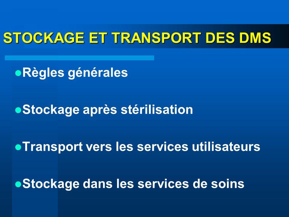 STOCKAGE ET TRANSPORT DES DMS