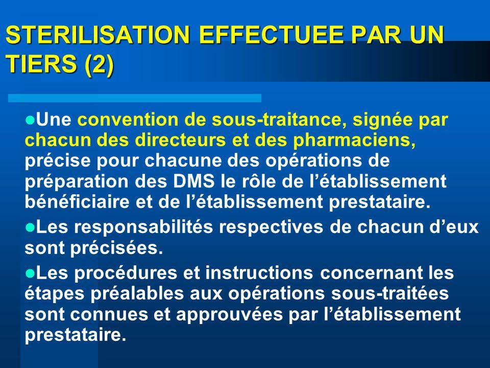 STERILISATION EFFECTUEE PAR UN TIERS (2)