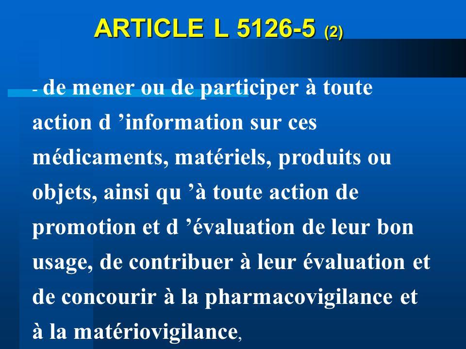 ARTICLE L 5126-5 (2)