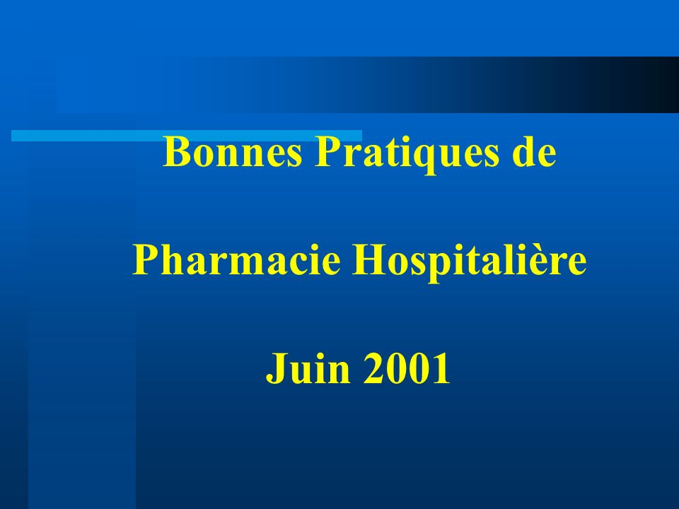 Pharmacie Hospitalière