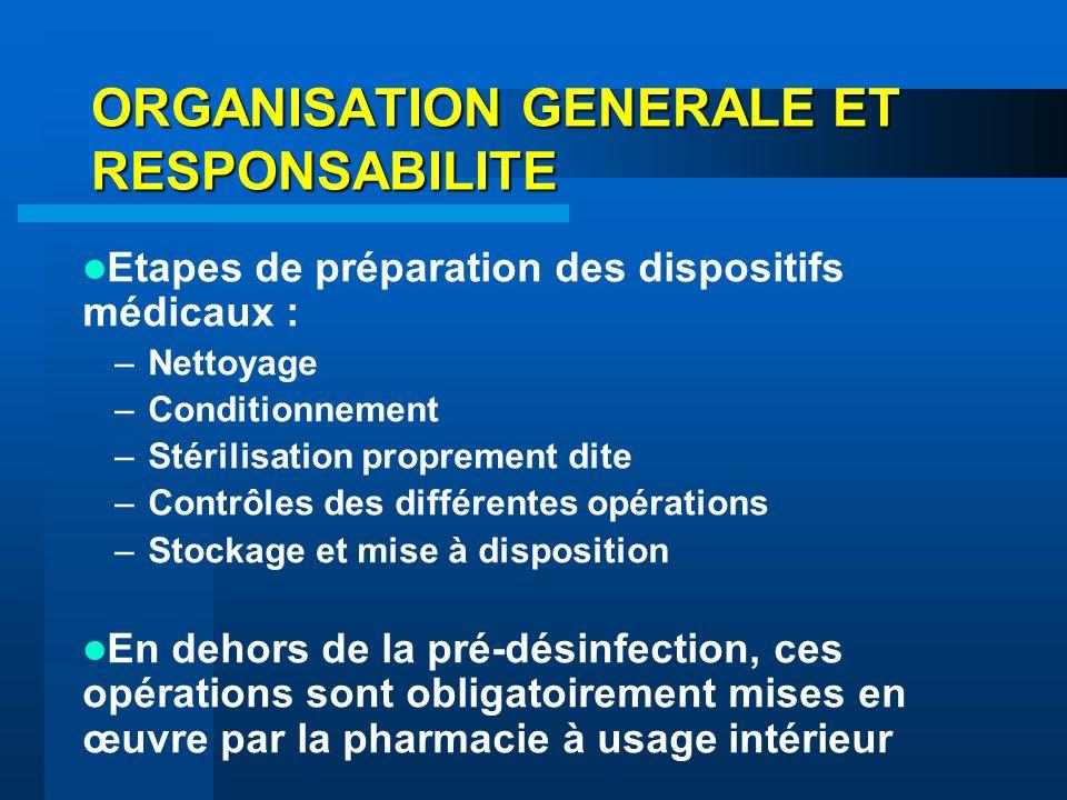 ORGANISATION GENERALE ET RESPONSABILITE