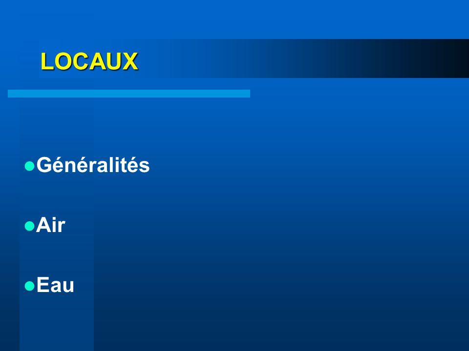 LOCAUX Généralités Air Eau
