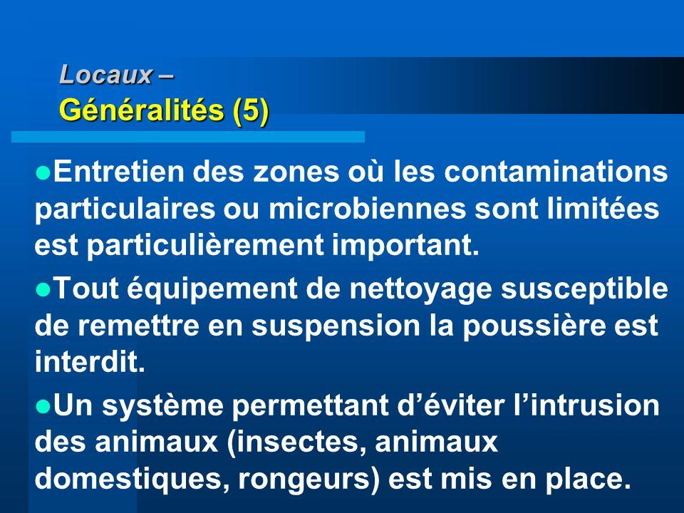 Locaux – Généralités (5)