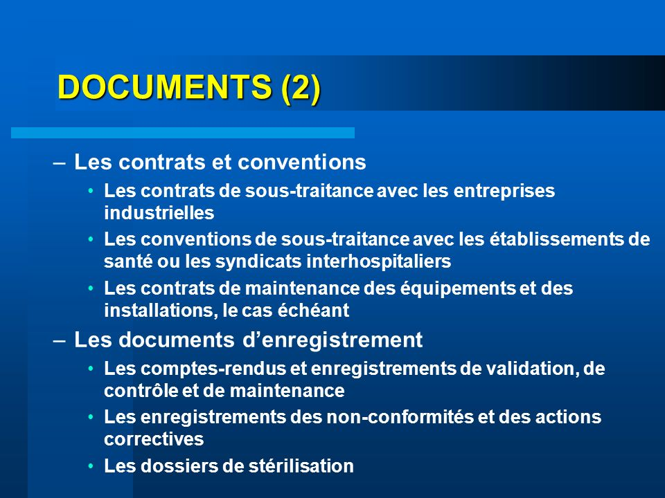 DOCUMENTS (2) Les contrats et conventions