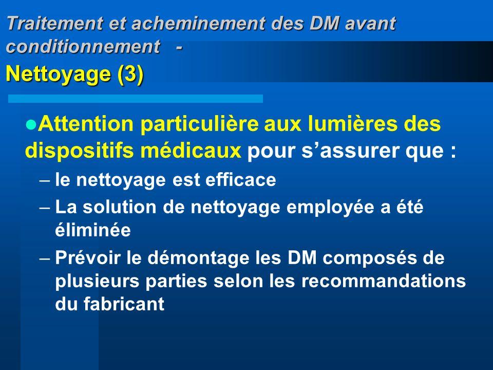 Traitement et acheminement des DM avant conditionnement - Nettoyage (3)