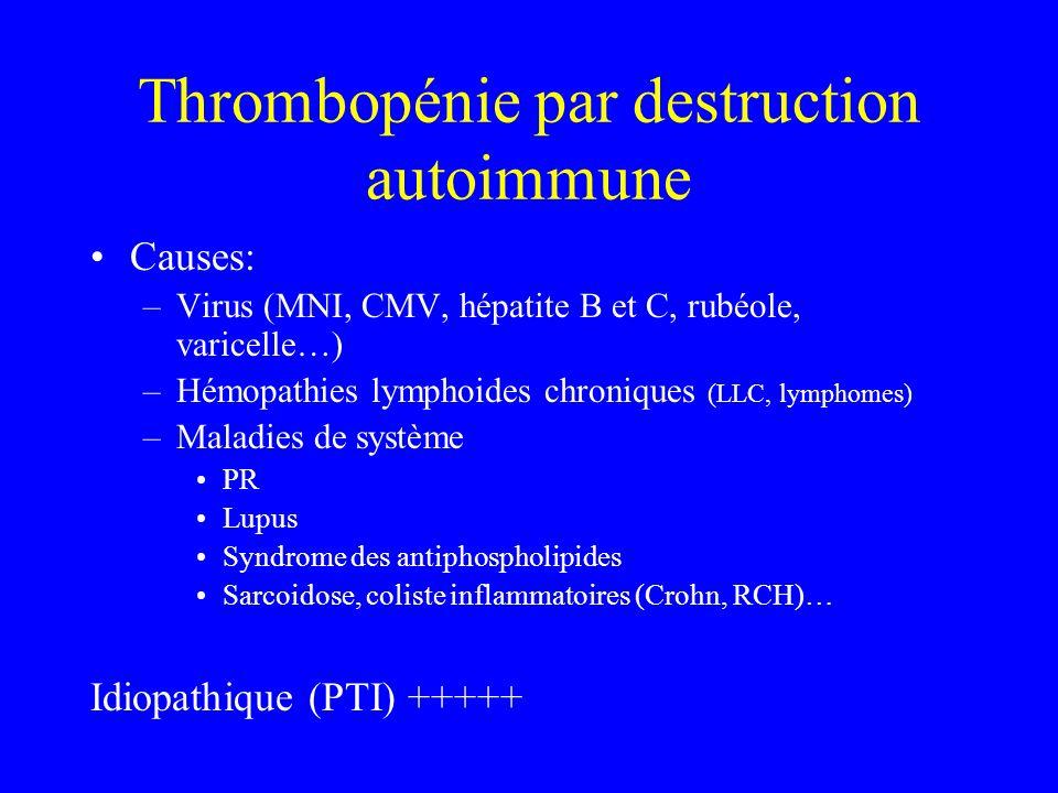 Thrombopénie par destruction autoimmune