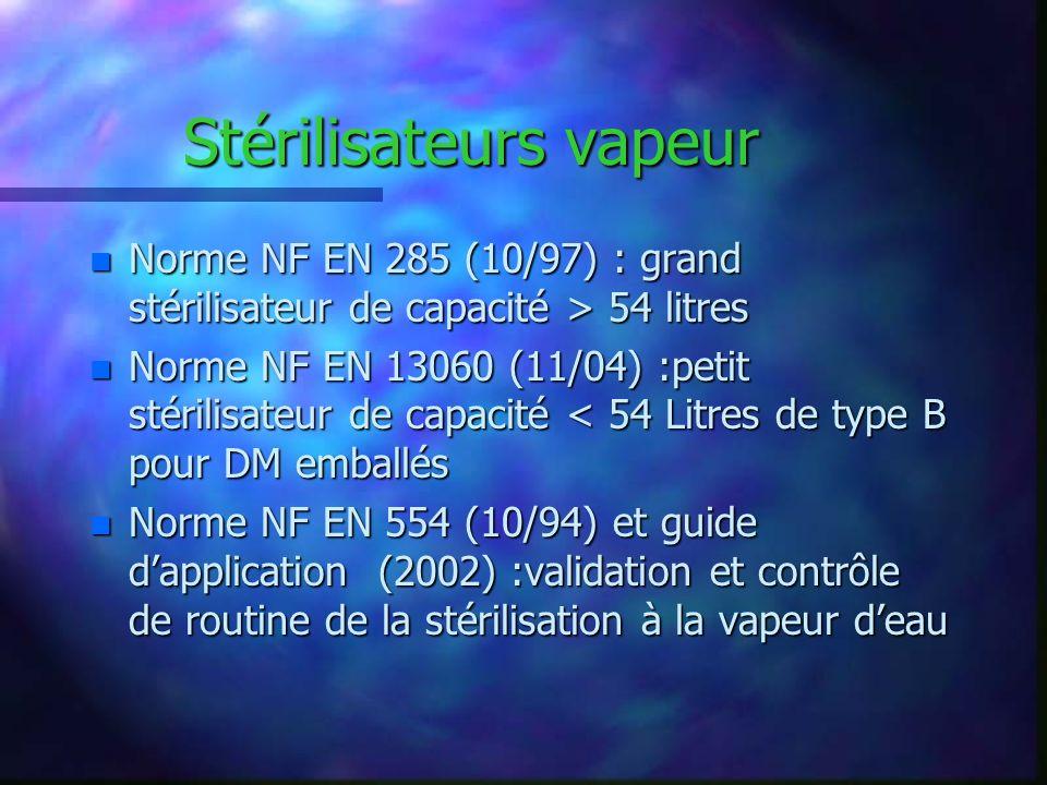 Stérilisateurs vapeur