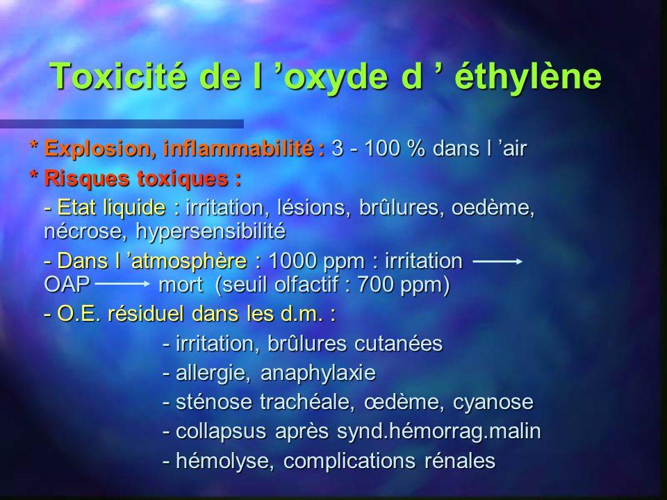 Toxicité de l 'oxyde d ' éthylène