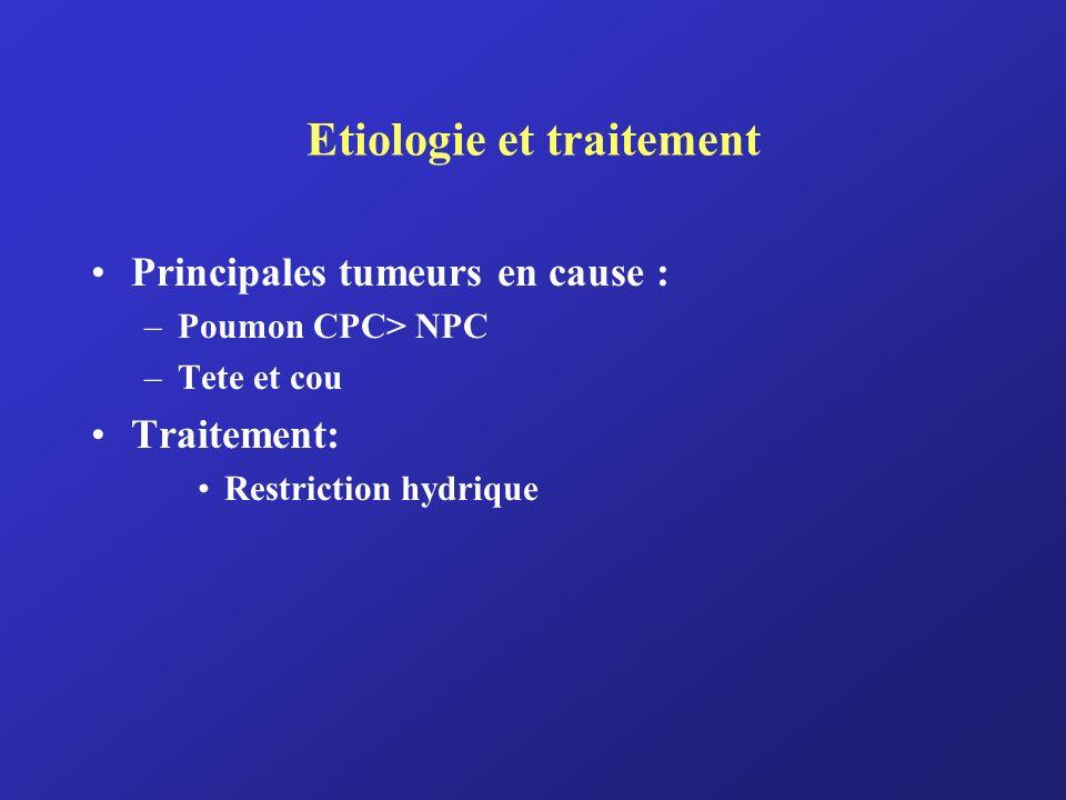 Etiologie et traitement