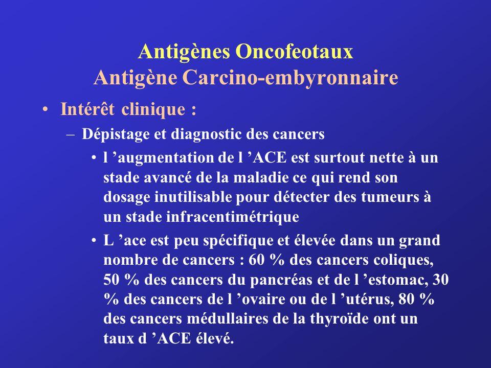 Antigènes Oncofeotaux Antigène Carcino-embyronnaire