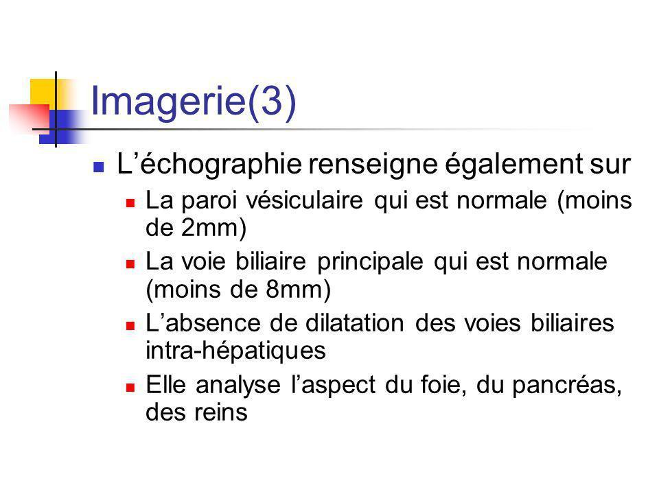Imagerie(3) L'échographie renseigne également sur