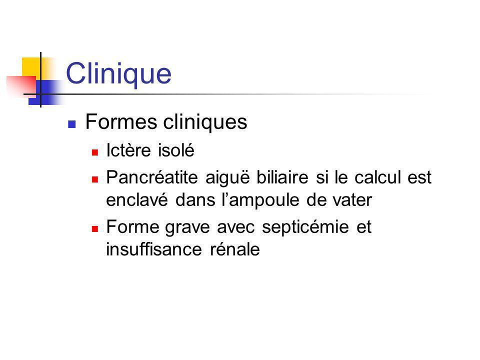 Clinique Formes cliniques Ictère isolé