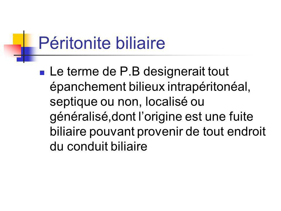 Péritonite biliaire