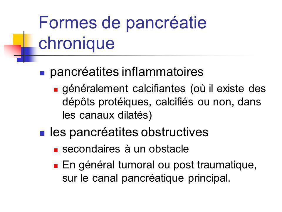 Formes de pancréatie chronique