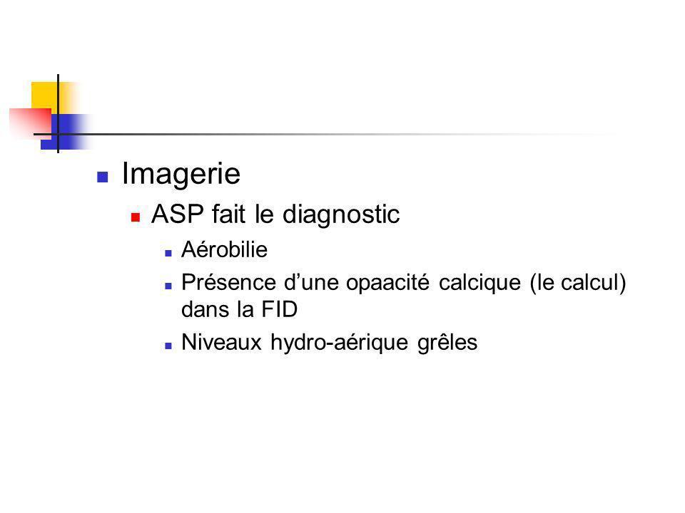 Imagerie ASP fait le diagnostic Aérobilie