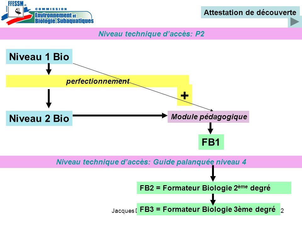 + Niveau 1 Bio Niveau 2 Bio FB1 Attestation de découverte