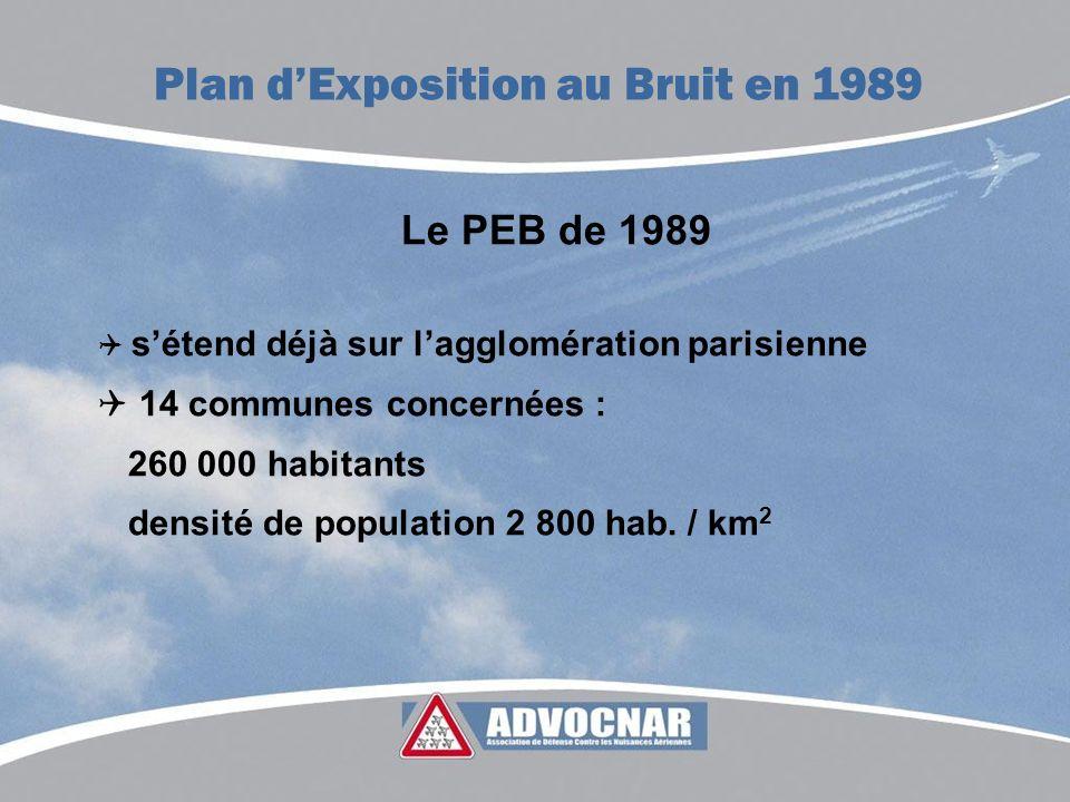 Plan d'Exposition au Bruit en 1989