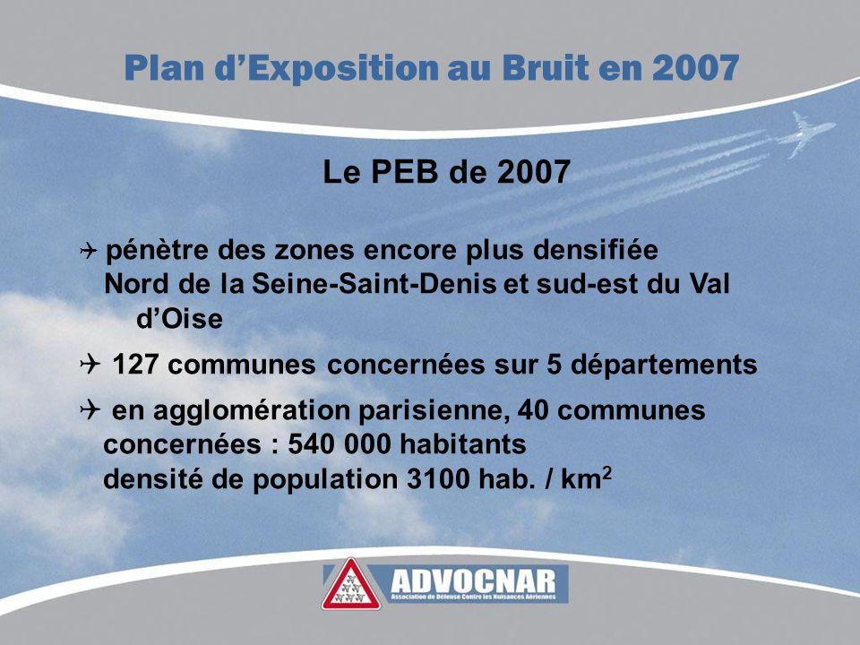 Plan d'Exposition au Bruit en 2007