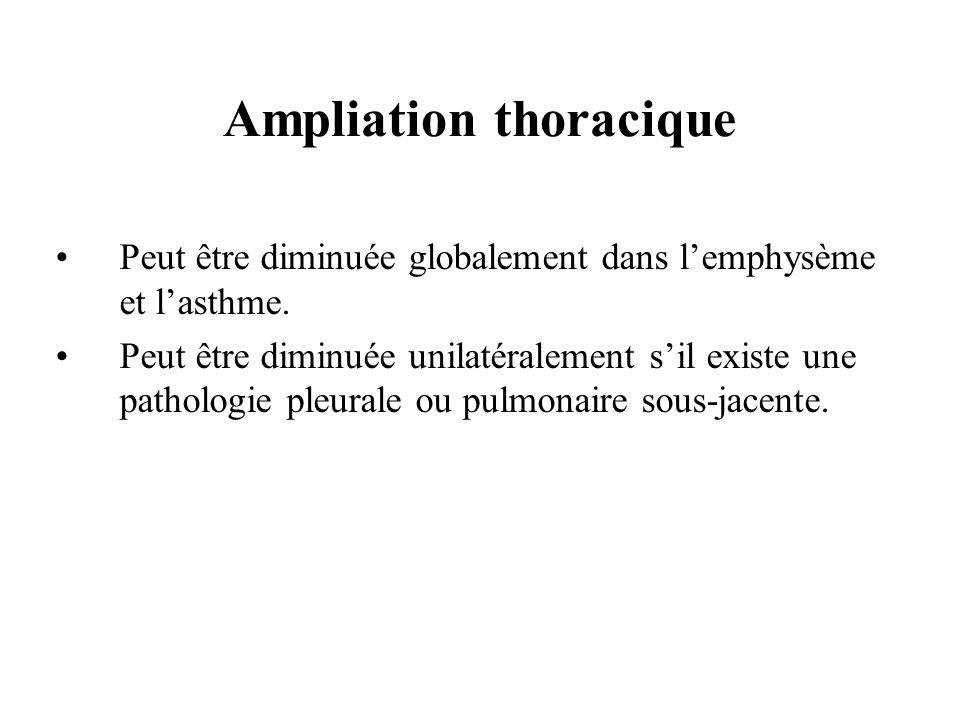 Ampliation thoracique