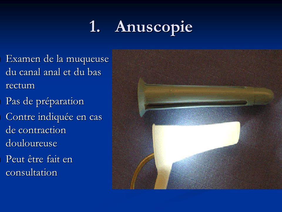 Anuscopie Examen de la muqueuse du canal anal et du bas rectum