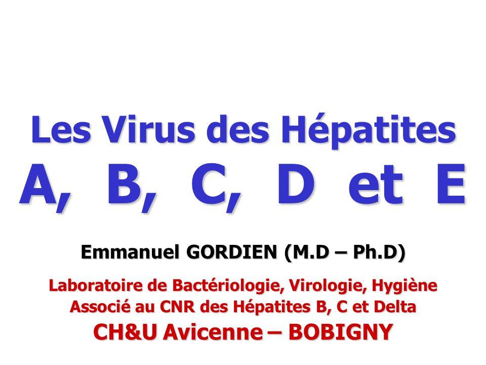 Les Virus des Hépatites A, B, C, D et E