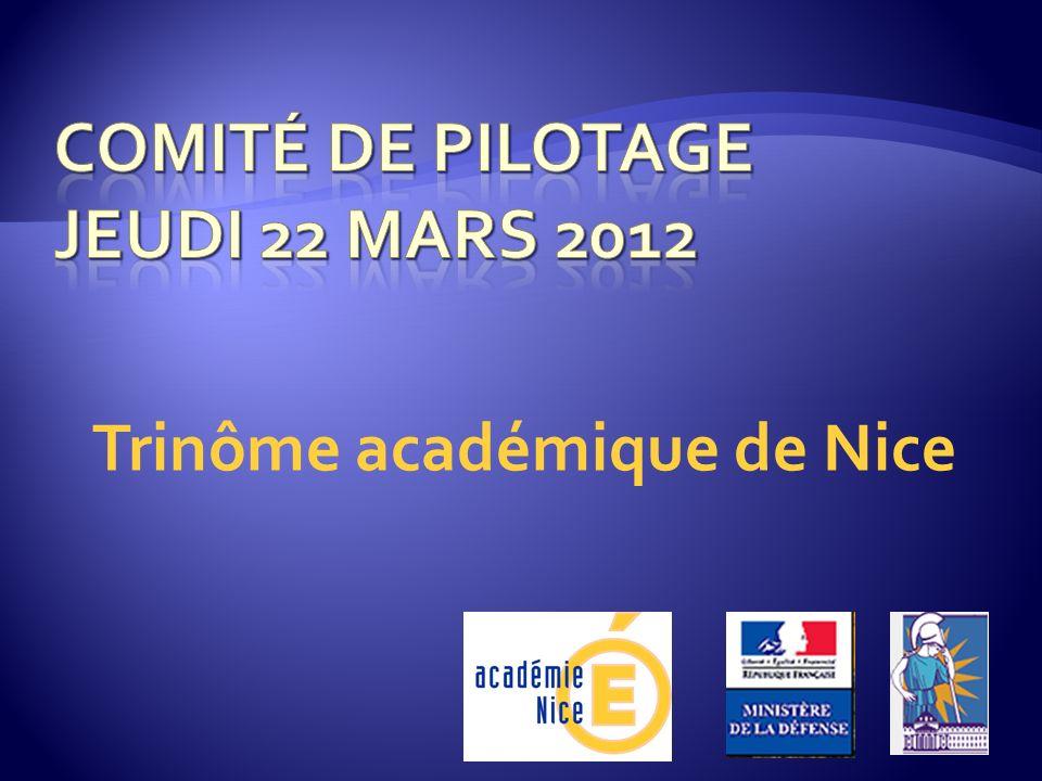 Comité de pilotage Jeudi 22 mars 2012