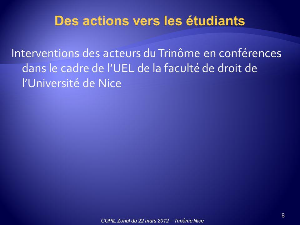 Des actions vers les étudiants