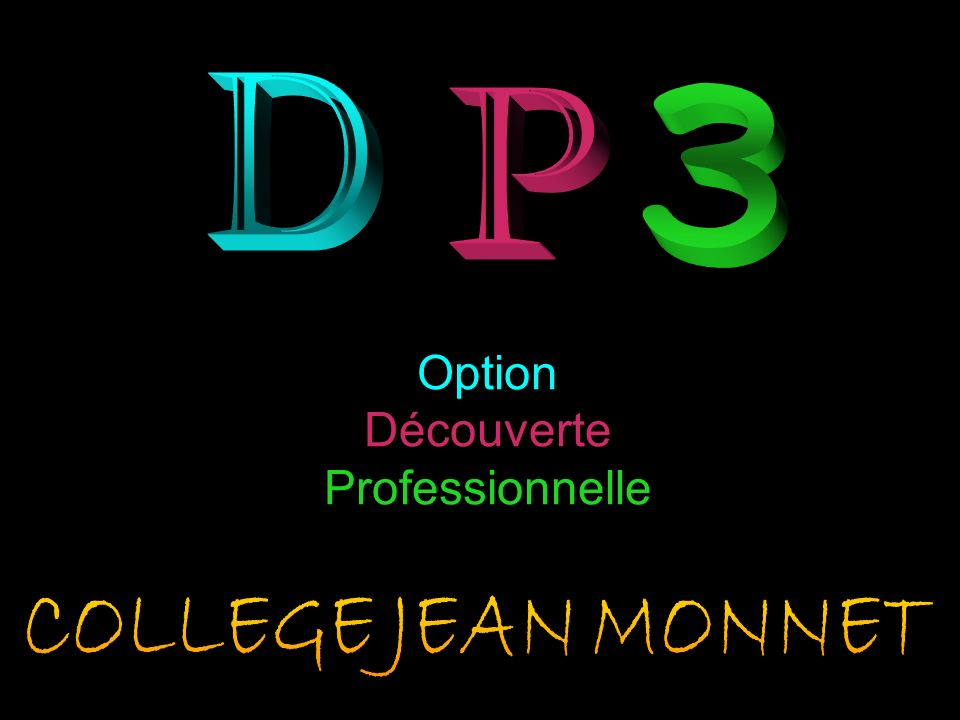D 3 P Option Découverte Professionnelle COLLEGE JEAN MONNET