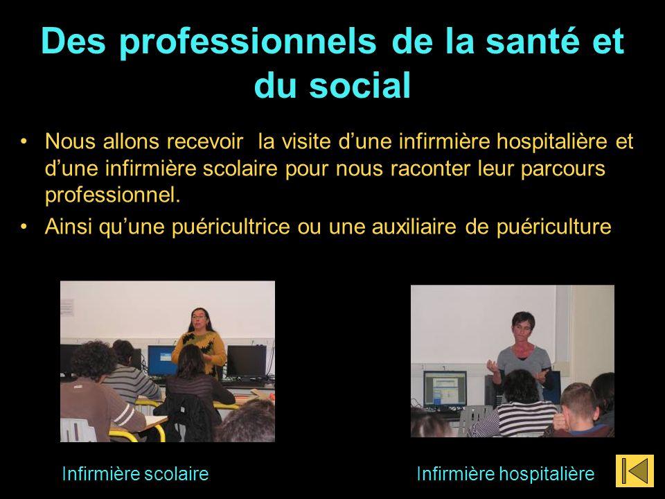 Des professionnels de la santé et du social