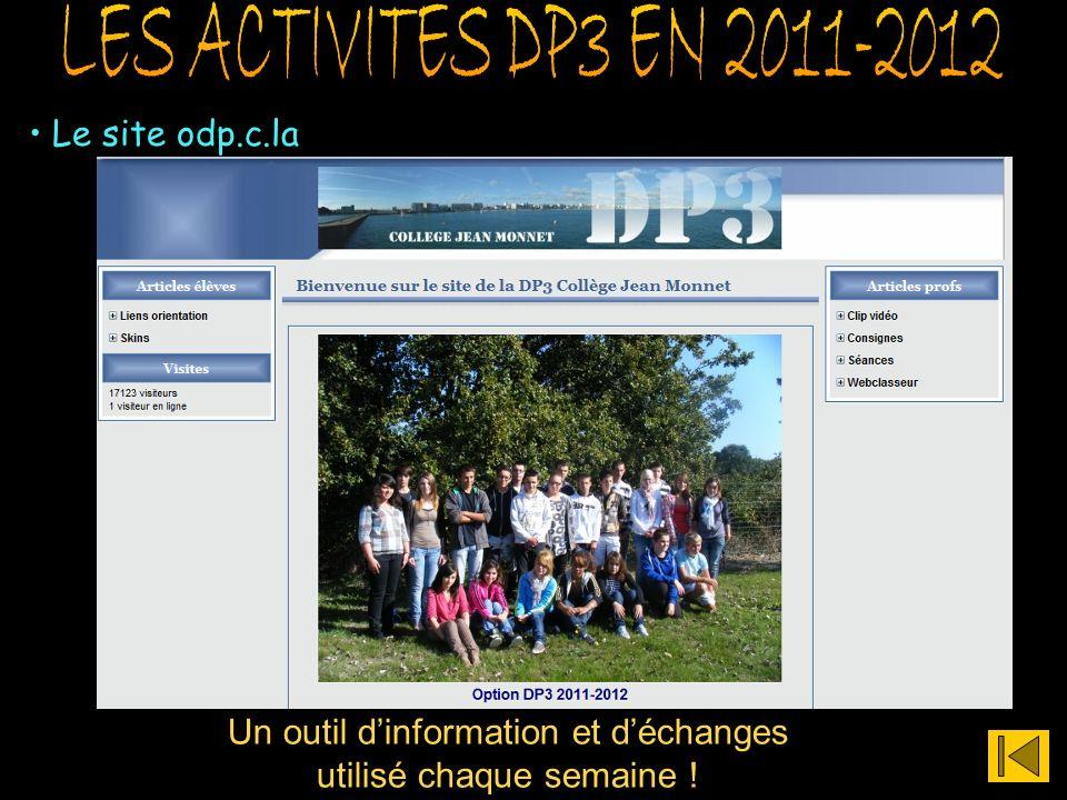 LES ACTIVITES DP3 EN 2011-2012 Le site odp.c.la