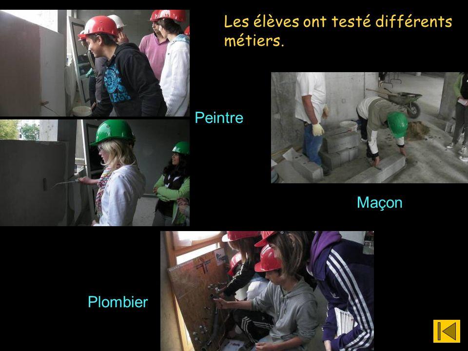 Les élèves ont testé différents métiers.