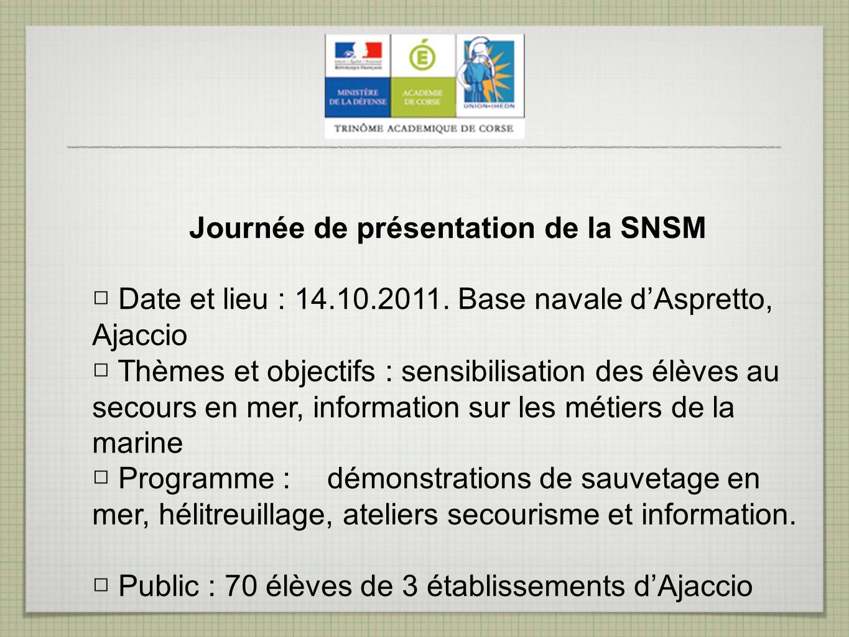 Journée de présentation de la SNSM